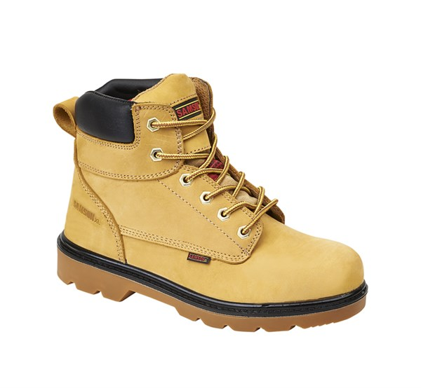 honey nubuck cow leather s1p hro safety boot sizes 4 13